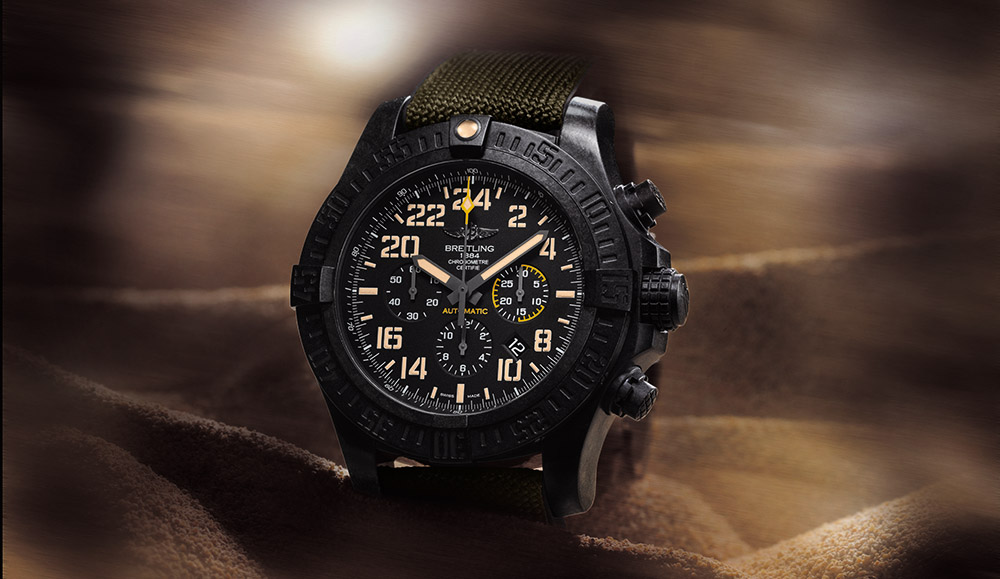 Breitling Avenger Hurricane Military - duty free watches in St Lucia